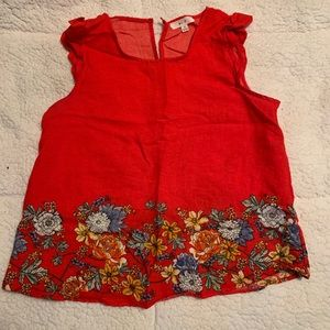 Casual red top for women